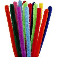Limpiador de tubo, L. 30 cm, grosor 15 mm, surtido de colores, 15 stdas/ 1 paquete