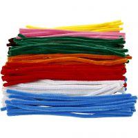Limpiador de tubo, L. 30 cm, grosor 9 mm, surtido de colores, 200 stdas/ 1 paquete