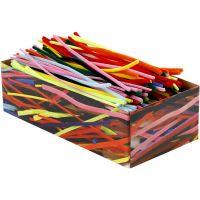 Limpiador de tubo, L. 30 cm, grosor 4+6+9 mm, surtido de colores, 700 stdas/ 1 paquete