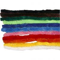 Limpiador de tubo, L. 30 cm, grosor 15 mm, surtido de colores, 200 stdas/ 1 paquete