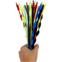 Limpiador de tubo, L. 30 cm, grosor 5-12 mm, surtido de colores, 30 ud/ 1 paquete