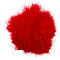 Plumas, medidas 5-12 cm, rojo, 15 ud/ 1 paquete