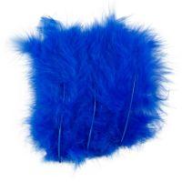 Plumas, medidas 5-12 cm, azul, 15 ud/ 1 paquete