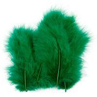 Plumas, medidas 5-12 cm, verde, 15 ud/ 1 paquete