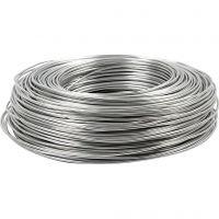 Alambre de aluminio, redondo, grosor 2 mm, plata, 100 m/ 1 rollo