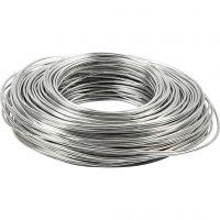 Alambre de aluminio, grosor 2,5 mm, plata, 75 m/ 1 rollo