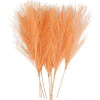 Plumas artificiales, L. 15 cm, A: 8 cm, naranja, 10 ud/ 1 paquete
