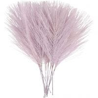 Plumas artificiales, L. 15 cm, A: 8 cm, morado, 10 ud/ 1 paquete
