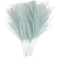 Plumas artificiales, L. 15 cm, A: 8 cm, azul claro, 10 ud/ 1 paquete