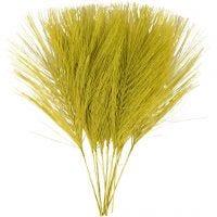 Plumas artificiales, L. 15 cm, A: 8 cm, verde, 10 ud/ 1 paquete