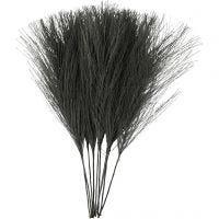 Plumas artificiales, L. 15 cm, A: 8 cm, negro, 10 ud/ 1 paquete