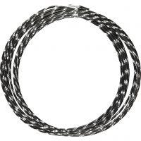 Alambre de aluminio, Corte de diamante, grosor 2 mm, negro, 7 m/ 1 rollo