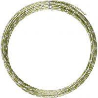 Alambre de aluminio, corte de diamante, grosor 2 mm, verde, 7 m/ 1 rollo