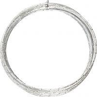 Alambre de aluminio, corte de diamante, grosor 2 mm, plata, 7 m/ 1 rollo