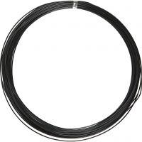 Alambre de aluminio, redondo, grosor 1 mm, negro, 16 m/ 1 rollo