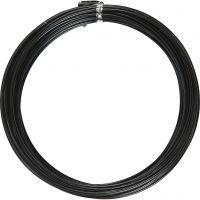 Alambre de aluminio, Redondo, grosor 2 mm, negro, 10 m/ 1 rollo