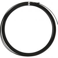 Alambre de aluminio, plano, A: 3,5 mm, grosor 0,5 mm, negro, 4,5 m/ 1 rollo