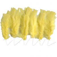 Plumas, L. 11-17 cm, amarillo, 18 fajo/ 1 paquete