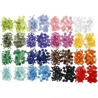 Mini mosaico , medidas 5x5+10x10 mm, 32x25 gr/ 1 paquete