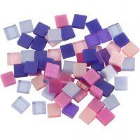 Mini mosaico , medidas 5x5 mm, lila/lila oscuro, 25 gr/ 1 paquete