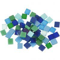 Mini mosaico , medidas 5x5 mm, azul/gris harmonía, 25 gr/ 1 paquete