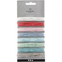 Cordón de algodón, grosor 1 mm, surtido de colores, 8x5 m/ 1 paquete