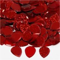 Lentejuelas, Gota de agua, medidas 14x19 mm, rojo, 50 gr/ 1 paquete