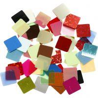 Piezas de mosaico cuadradas, medidas 10x10 mm, surtido de colores, 10 gr/ 1 paquete