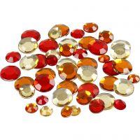 Joyas, redonda, medidas 6+9+12 mm, rojo harmonía, 360 ud/ 1 paquete