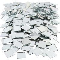 Piezas de espejo para mosaico, medidas 16x16 mm, 500 ud/ 1 paquete