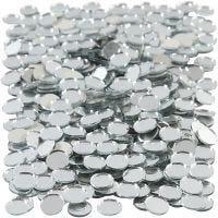 Piezas de espejo para mosaico, redondo, dia: 10 mm, 500 ud/ 1 paquete
