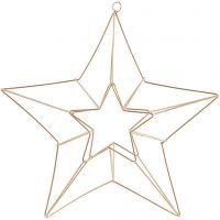 Adorno colgante, Estrella, medidas 34x30 cm, latón, 1 ud
