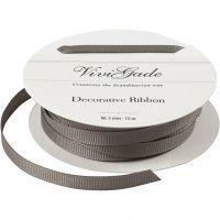 Cinta decorativa, A: 6 mm, gris, 15 m/ 1 rollo