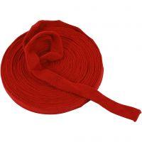 Tubo de punto, A: 22 mm, rojo navideño, 10 m/ 1 rollo