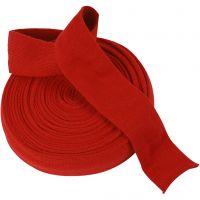Tubo de punto, A: 60 mm, rojo navideño, 10 m/ 1 rollo