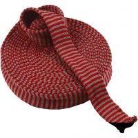 Tubo de punto, A: 40 mm, rojo/verde navideños, 10 m/ 1 rollo