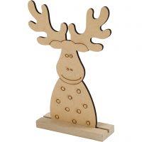 Figura de Navidad, Reno, A: 15 cm, profundidad 3 cm, A: 11 cm, 1 ud
