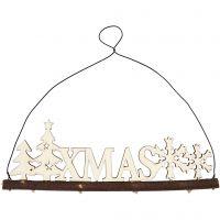 Decoración de Navidad, Letras XMAS, A: 7 cm, profundidad 0,5 cm, A: 22 cm, 1 ud