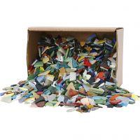 Mosaico, medidas 8-20 mm, surtido de colores, 2 kg/ 1 paquete