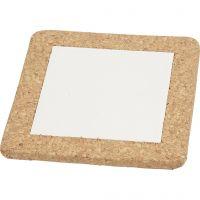 Salvamanteles, medidas 15,5x15,5x1 cm, blanco, 10 ud/ 1 caja