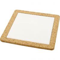 Salvamanteles, medidas 19x19x1,1 cm, blanco, 10 ud/ 1 caja