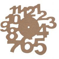 Reloj, dia: 30 cm, grosor 3 mm, 1 ud