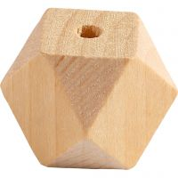 Cuenta forma diamante, A: 20 mm, medida agujero 3 mm, 6 ud/ 1 paquete