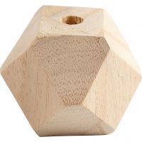 Cuenta forma diamante, A: 43 mm, medida agujero 8 mm, 3 ud/ 1 paquete