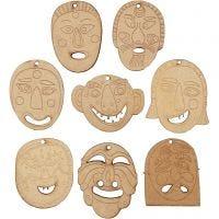 Máscaras, medidas 5,5-7 cm, grosor 4 mm, 24 ud/ 1 paquete