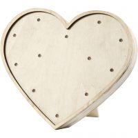 Caja de luz en forma de corazón, A: 21 cm, A: 23,5 cm, 2. sort, 1 ud