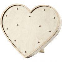 Caja de luz en forma de corazón, A: 21 cm, profundidad 3,5 cm, A: 23,5 cm, 1 ud