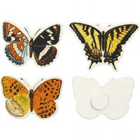 Mariposas, medidas 45x33 mm, 75 ud/ 1 paquete
