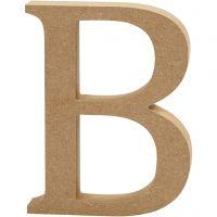 Letra, B, A: 13 cm, grosor 2 cm, 1 ud