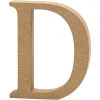 Letra, D, A: 13 cm, grosor 2 cm, 1 ud